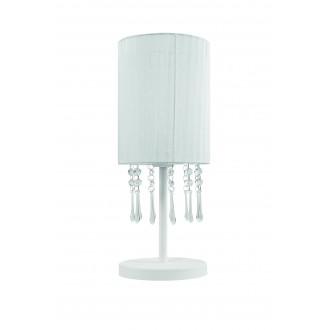 LAMPEX 153/LM BIA | Wenecja-LA Lampex asztali lámpa 45cm 1x E27 fehér, átlátszó