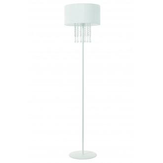 LAMPEX 153/ST BIA | Wenecja-LA Lampex álló lámpa 150cm 1x E27 fehér, átlátszó