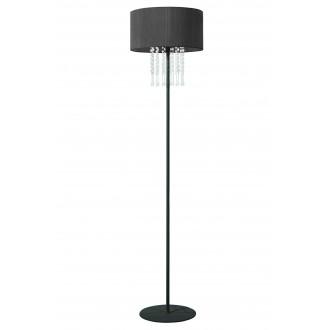 LAMPEX 153/ST CZA | Wenecja-LA Lampex álló lámpa 150cm 1x E27 fekete, átlátszó