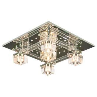 LAMPEX 178/5 | Sparta-LA Lampex mennyezeti lámpa távirányító színváltós 5x G4 LED króm, opál, átlátszó