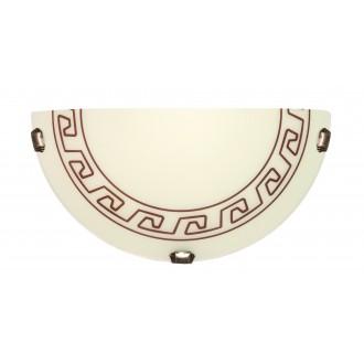 LAMPEX 205/K1 ECO | Atena Lampex fali lámpa 1x E27 patina, krémszín