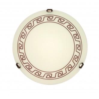 LAMPEX 205/P1 ECO | Atena Lampex mennyezeti lámpa 1x E27 patina, krémszín