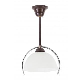 LAMPEX 264/Z | Lampex-Pendant Lampex függeszték lámpa 1x E27 wenge, króm, fehér