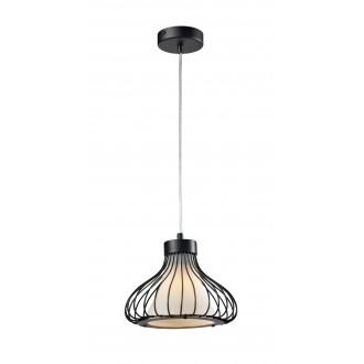 LAMPEX 298/A | Kenia Lampex függeszték lámpa 1x E27 fekete, fehér