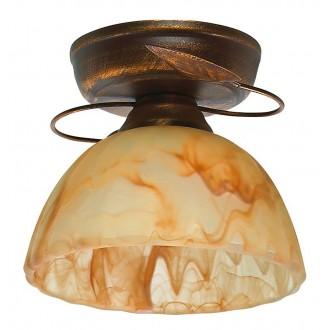 LAMPEX 444/A B+M | Lampex-Pendant Lampex mennyezeti lámpa 1x E27 antik vörösréz, borostyán