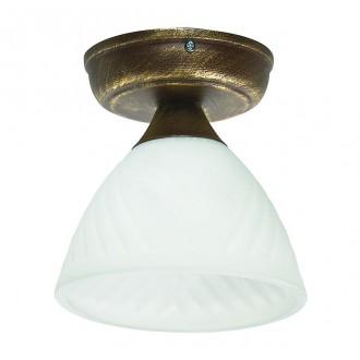 LAMPEX 445/B B+Z | Lampex-Pendant Lampex mennyezeti lámpa 1x E27 antikolt arany, opál