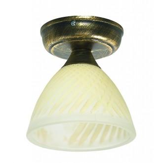 LAMPEX 445/D C+Z | Lampex-Pendant Lampex mennyezeti lámpa 1x E27 antikolt arany, krémszín