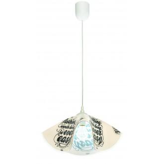 LAMPEX 465/E | Lampex-Pendant Lampex függeszték lámpa 1x E27 fehér, színes
