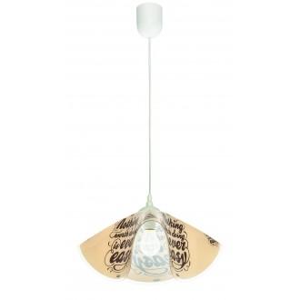 LAMPEX 465/H | Lampex-Pendant Lampex függeszték lámpa 1x E27 fehér, színes