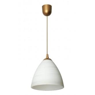 LAMPEX 588/A | Lampex-Pendant Lampex függeszték lámpa 1x E27 bronz, fehér