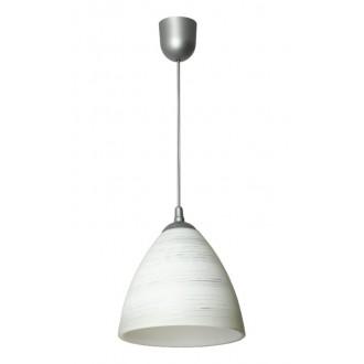 LAMPEX 588/B | Lampex-Pendant Lampex függeszték lámpa 1x E27 antikolt ezüst, fehér