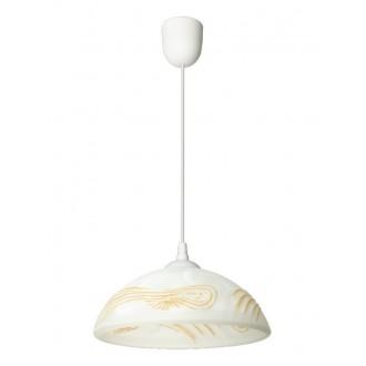 LAMPEX 588/D | Lampex-Pendant Lampex függeszték lámpa 1x E27 fehér, borostyán