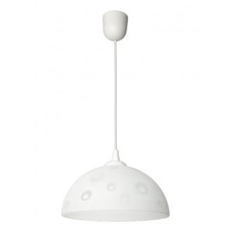 LAMPEX 588/F | Lampex-Pendant Lampex függeszték lámpa 1x E27 fehér