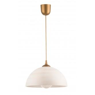 LAMPEX 588/G | Lampex-Pendant Lampex függeszték lámpa 1x E27 arany, krémszín