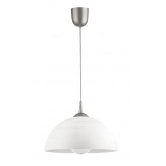 LAMPEX 588/H | Lampex-Pendant Lampex függeszték lámpa 1x E27 ezüst, fehér