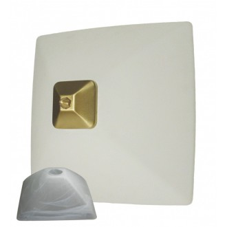 LEMIR 005/K2 K_7 | Krzyzak Lemir fali, mennyezeti lámpa 1x E27 matt króm, fehér