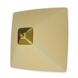 LEMIR 005/K2 K_8 | Krzyzak Lemir fali, mennyezeti lámpa 1x E27 bronz, krémszín