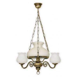LEMIR 010/W4 | Alladyn Lemir csillár lámpa 1x E27 + 3x E14 bronz, fehér