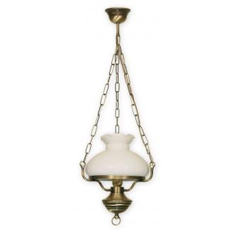 LEMIR 012/W1 | Alladyn Lemir függeszték lámpa 1x E27 bronz, fehér