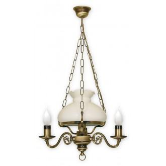 LEMIR 013/W4 | Alladyn Lemir függeszték lámpa 1x E27 + 3x E14 bronz, fehér