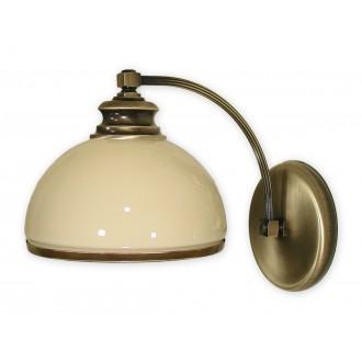 LEMIR 260/K1 | Olimp Lemir falikar lámpa 1x E27 bronz, krémszín