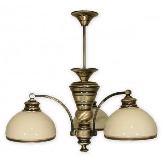 LEMIR 263/W3 | Olimp Lemir csillár lámpa 3x E27 bronz, krémszín