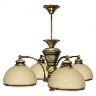 LEMIR 264/W4 | Olimp Lemir csillár lámpa 4x E27 bronz, krémszín
