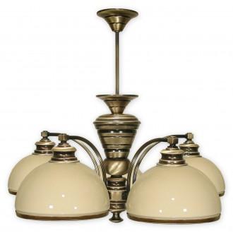 LEMIR 265/W5 | Olimp Lemir csillár lámpa 5x E27 bronz, krémszín
