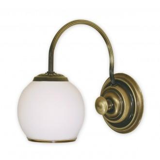 LEMIR 280/K1   Rodos Lemir falikar lámpa 1x E27 bronz, fehér