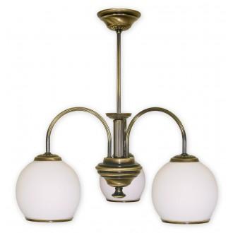 LEMIR 283/W3 | Rodos Lemir csillár lámpa 3x E27 bronz, fehér