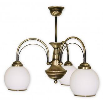 LEMIR 333/W3 | Koral Lemir csillár lámpa 3x E27 bronz, fehér