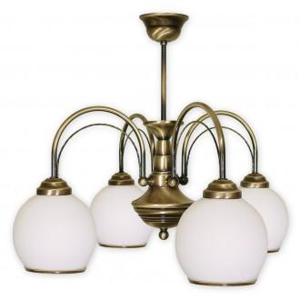 LEMIR 334/W4 | Koral Lemir csillár lámpa 4x E27 bronz, fehér