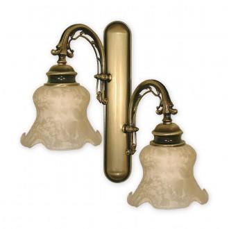 LEMIR 341/K2   Tytan Lemir falikar lámpa 2x E27 bronz, krémszín