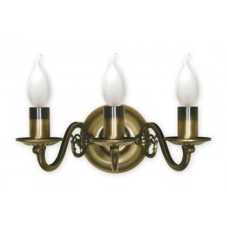 LEMIR 382/K3 | Swiecznik Lemir falikar lámpa 3x E14 bronz