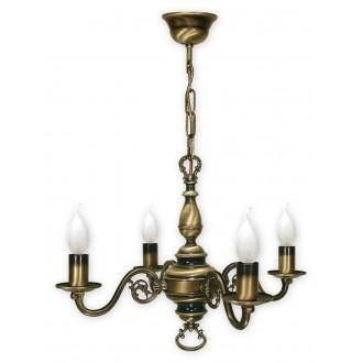 LEMIR 384/W4   Swiecznik Lemir csillár lámpa 4x E14 bronz