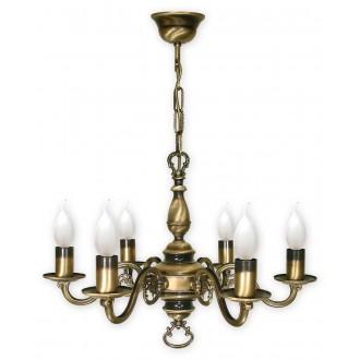 LEMIR 386/W6   Swiecznik Lemir csillár lámpa 6x E14 bronz