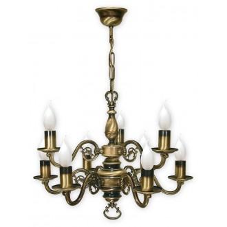 LEMIR 387/W9   Swiecznik Lemir csillár lámpa 9x E14 bronz