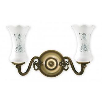 LEMIR 421/K2 | RetroPlus Lemir falikar lámpa 2x E14 bronz, fehér