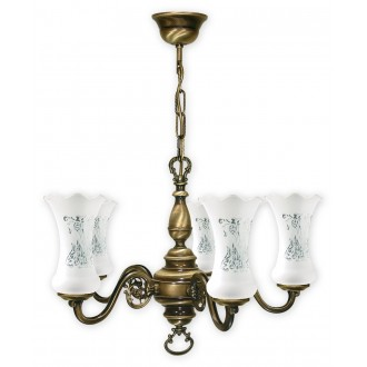 LEMIR 425/W5 | RetroPlus Lemir csillár lámpa 5x E14 bronz, fehér