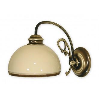 LEMIR 510/K1 | Delta Lemir fali lámpa 1x E27 bronz, krémszín