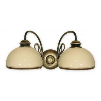 LEMIR 511/K2 | Delta Lemir fali lámpa 2x E27 bronz, krémszín