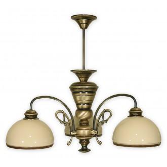 LEMIR 513/W3 | Delta Lemir csillár lámpa 3x E27 bronz, krémszín