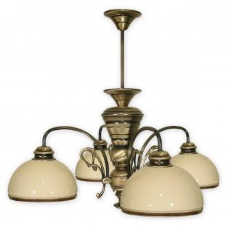 LEMIR 514/W4 | Delta Lemir csillár lámpa 4x E27 bronz, krémszín