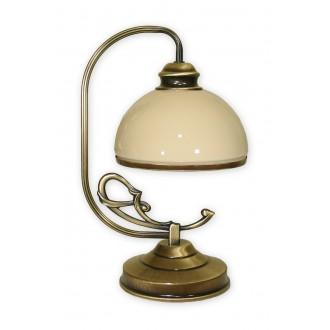 LEMIR 518/L1 | Delta Lemir asztali lámpa 35cm vezeték kapcsoló 1x E27 bronz, krémszín