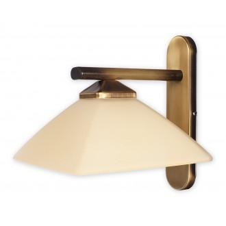 LEMIR 970/K1 | Krzyzak Lemir falikar lámpa 1x E27 bronz, krémszín