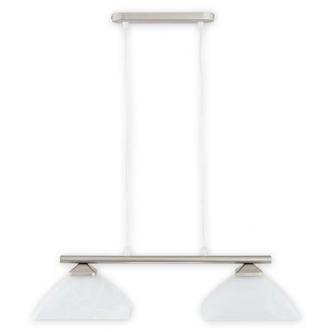 LEMIR 972LP/W2 SAT | Krzyzak Lemir függeszték lámpa rövidíthető vezeték 2x E27 matt króm, fehér