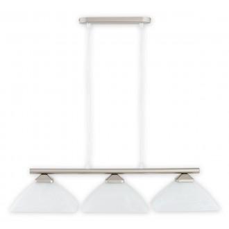 LEMIR 973LP/W3 SAT | Krzyzak Lemir függeszték lámpa rövidíthető vezeték 3x E27 matt króm, fehér