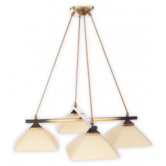 LEMIR 974LS/W4 | Krzyzak Lemir függeszték lámpa rövidíthető vezeték 4x E27 bronz, krémszín