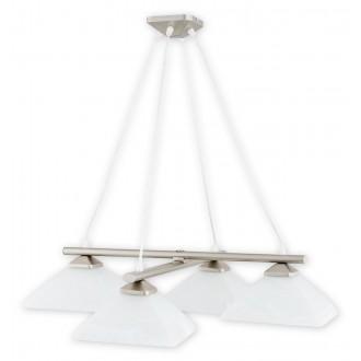 LEMIR 974LS/W4 SAT | Krzyzak Lemir függeszték lámpa rövidíthető vezeték 4x E27 matt króm, fehér