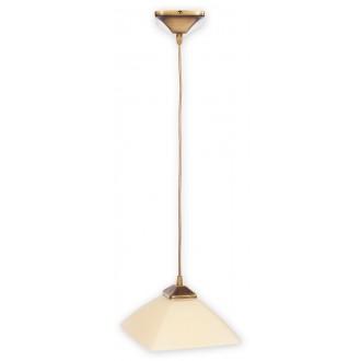 LEMIR 977/W1 | Krzyzak Lemir függeszték lámpa rövidíthető vezeték 1x E27 bronz, krémszín